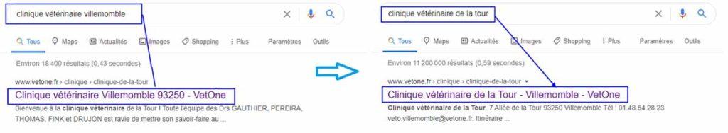 changement de title par google