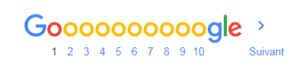 pagination des serps